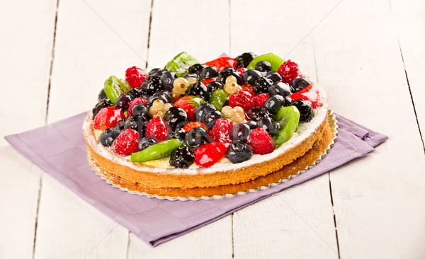 Stock photo: Pie with fruits
