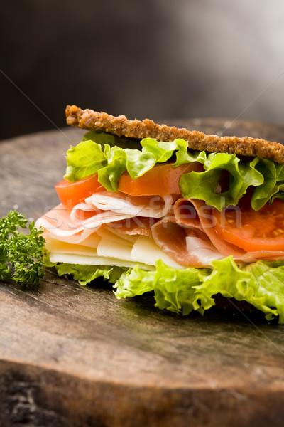 Sanduíche bacon foto delicioso fumado queijo Foto stock © Francesco83