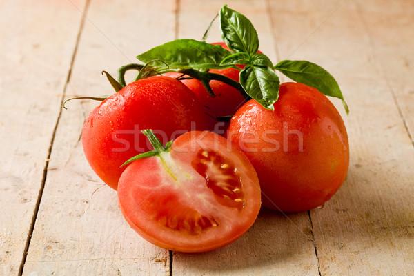 помидоров фото свежие базилик листьев Сток-фото © Francesco83