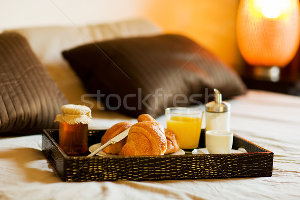Breakfast in the bedroom Stock photo © Francesco83