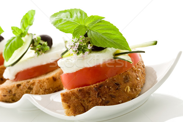 Caprese starter - Isolated Stock photo © Francesco83