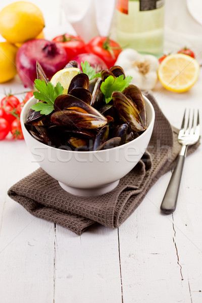 Mussels with white wine Stock photo © Francesco83