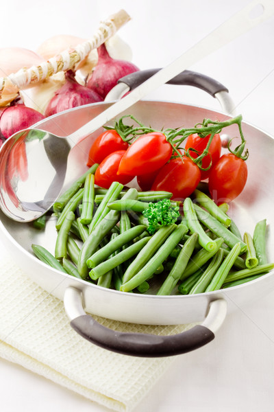 French Beans inside a pan Stock photo © Francesco83