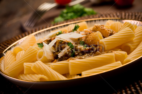 Pasta with Sicilian pesto Stock photo © Francesco83