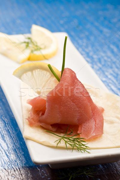 Ton balığı sandviç meze fotoğraf lezzetli ekmek Stok fotoğraf © Francesco83