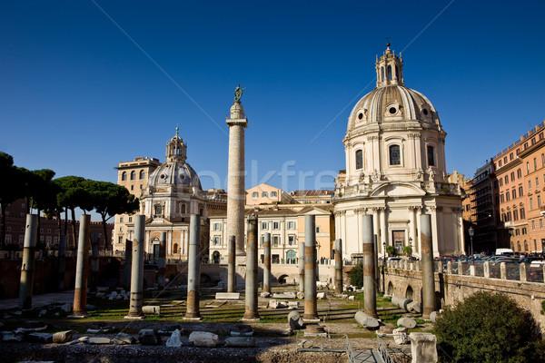 Church in the traiano forum Rome Stock photo © Francesco83
