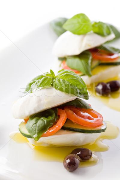 Töltött mozzarella szendvics fotó finom olaj Stock fotó © Francesco83