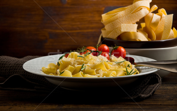 Pasta with cheese and rosemary Stock photo © Francesco83