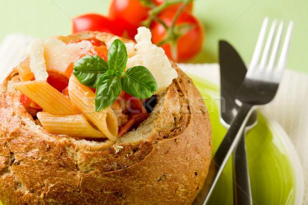 Foto stock: Pan · relleno · pasta · delicioso · grano · verde