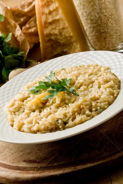 Risotto parmesan peyniri fotoğraf lezzetli yemek gıda Stok fotoğraf © Francesco83