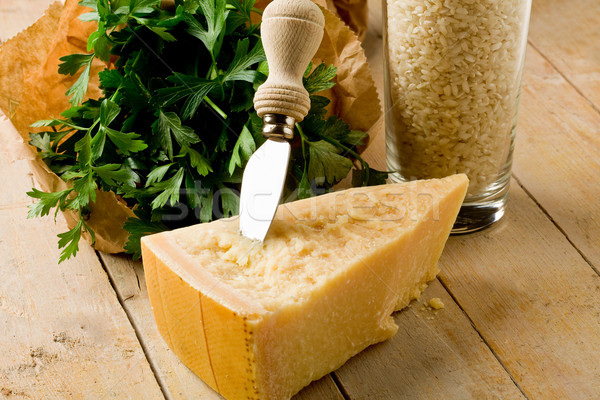 Ingredients for Risotto with Grana cheese Stock photo © Francesco83