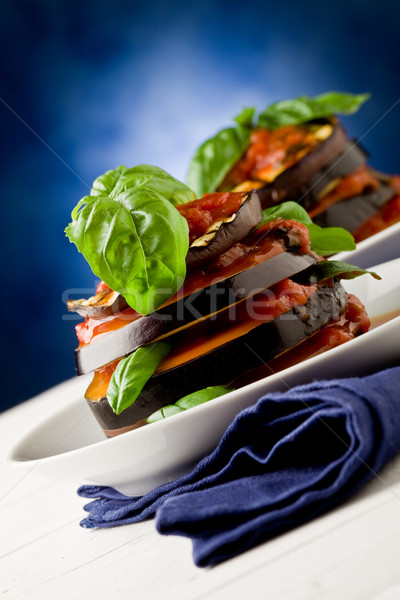Aubergines with tomato sauce - Parmigiana Stock photo © Francesco83