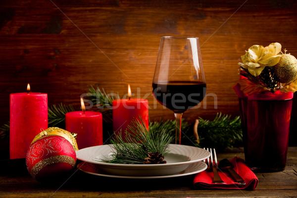 Decorated Christmas Table Stock photo © Francesco83