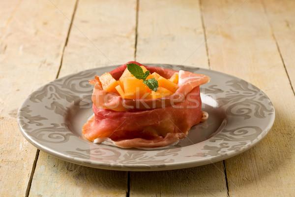 Presunto melão aperitivo foto delicioso Foto stock © Francesco83