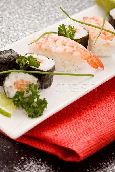 寿司 刺身 写真 食品 長方形の ストックフォト © Francesco83