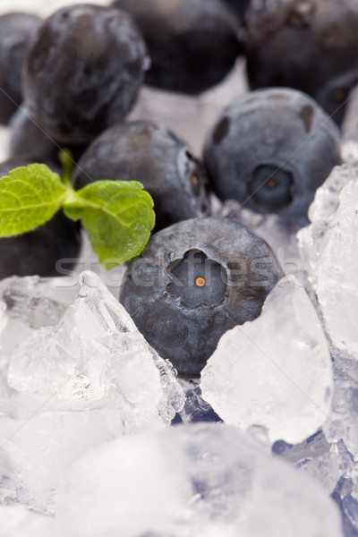 черника льда фото мята листьев фрукты Сток-фото © Francesco83