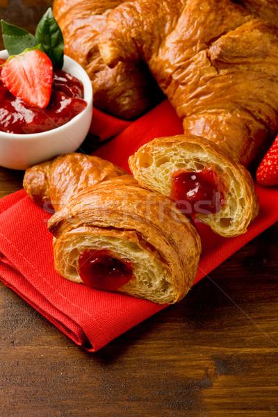 Croissants with marmelade Stock photo © Francesco83