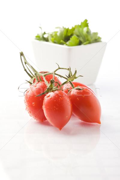 Domates maydanoz fotoğraf lezzetli ıslak domates Stok fotoğraf © Francesco83