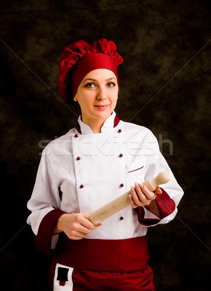 シェフ 麺棒 写真 小さな 女性 手 ストックフォト © Francesco83