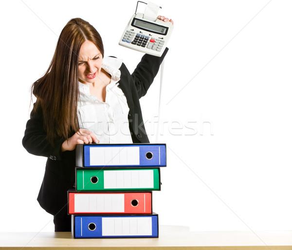 Złe dzień Fotografia kobieta biuro biurko Zdjęcia stock © Francesco83