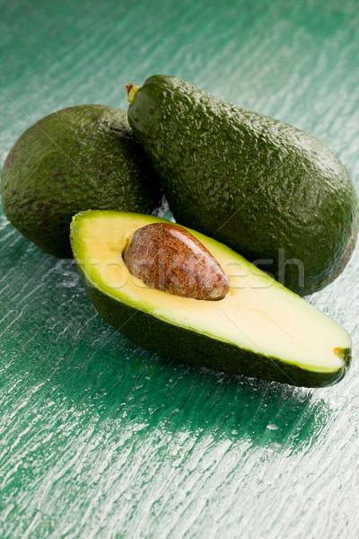Abacate foto fruto verde vidro tabela Foto stock © Francesco83