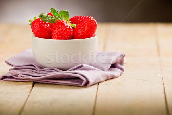Eprek fa asztal ibolya szalvéta fotó finom Stock fotó © Francesco83