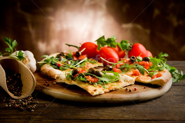 Vegetarian Pizza Stock photo © Francesco83