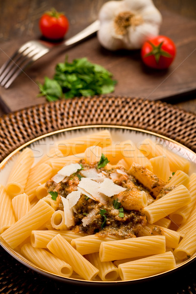 Pasta with Sicilian pesto Stock photo © Francesco83