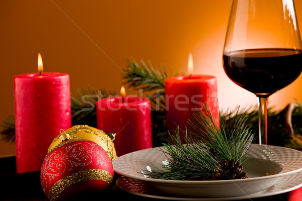 Decorated Christmas Table Stock photo © Francesco83