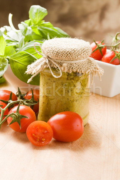 Foto stock: Italiano · pesto · foto · diferente · ingredientes · molho