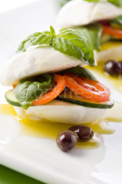 Stuffed Mozzarella Sandwich Stock photo © Francesco83