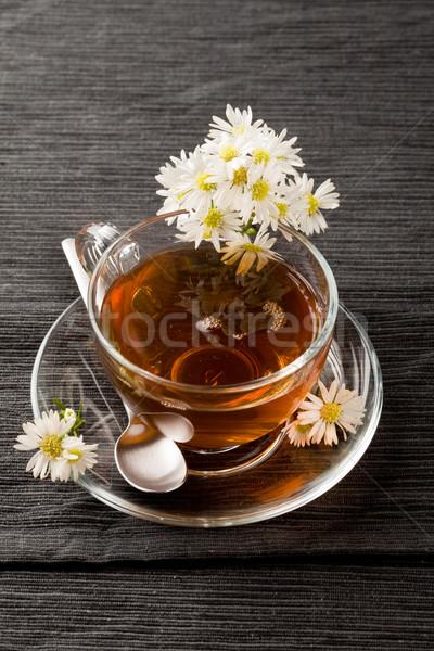 Kamilla fotó finom tea fű Stock fotó © Francesco83
