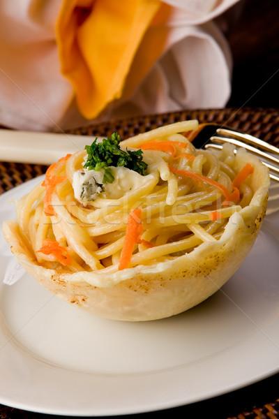 пасты соус внутри пармезан вафельный сыра Сток-фото © Francesco83