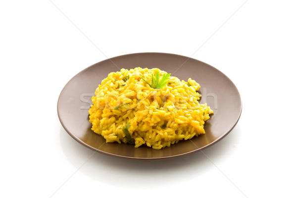 Risotto with Saffron Isolated Stock photo © Francesco83