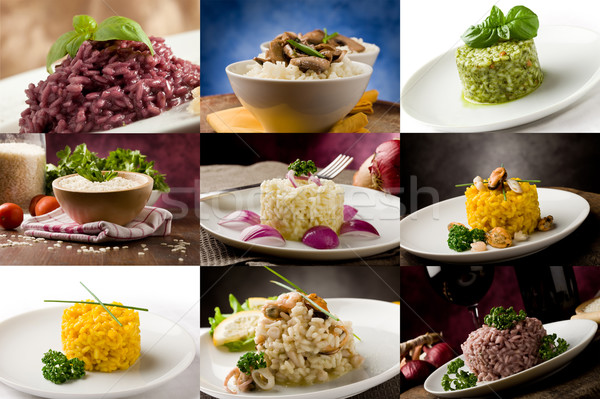 Risotto collage foto delicioso diferente Foto stock © Francesco83
