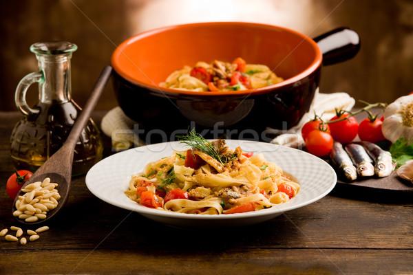 Pasta with Sardines Stock photo © Francesco83
