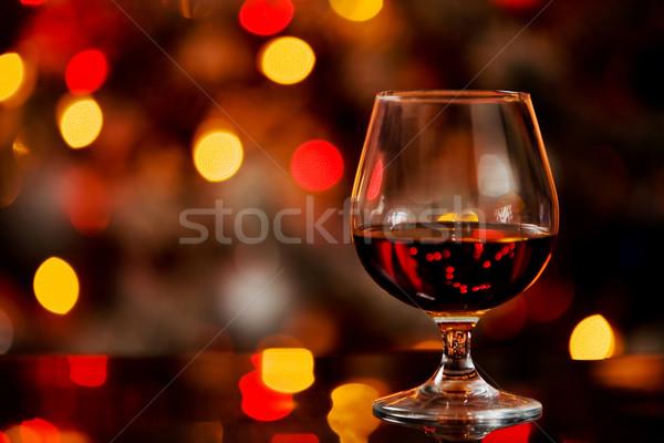Cognac bokeh photo verre table alimentaire Photo stock © Francesco83