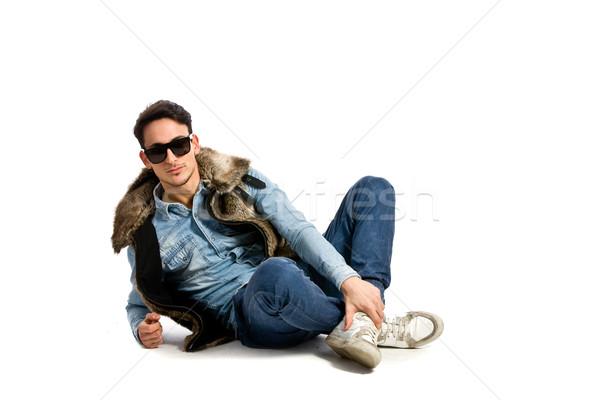моде парень белый фото молодые городского Сток-фото © Francesco83