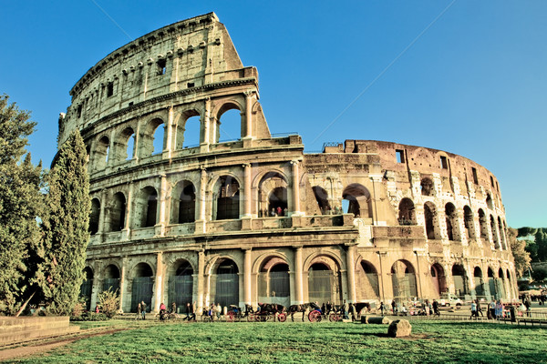 Colosseum hdr fotoğraf Roma gece sahne Stok fotoğraf © Francesco83