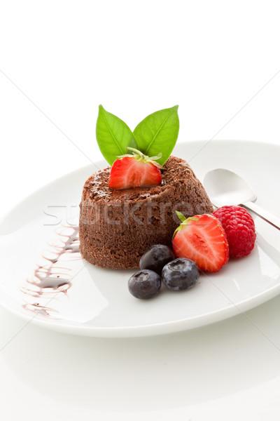 Stok fotoğraf: çikolata · tatlı · karpuzu · yalıtılmış · fotoğraf · lezzetli