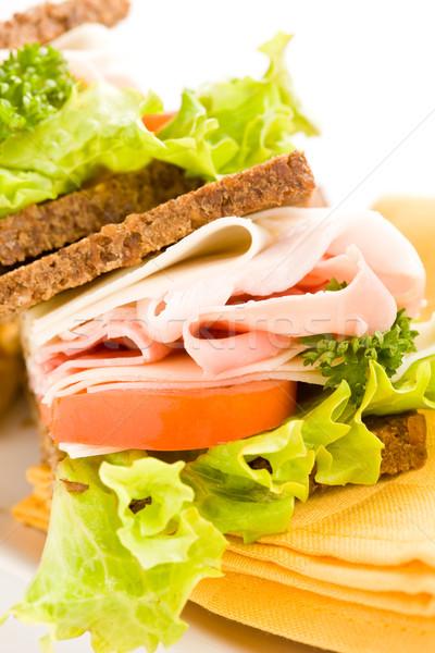 Fromages jambon sandwich photo délicieux grand Photo stock © Francesco83