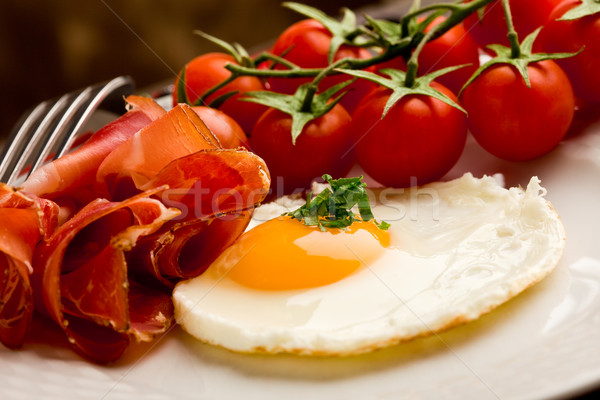 Angol reggeli tojások szalonna fotó sült Stock fotó © Francesco83