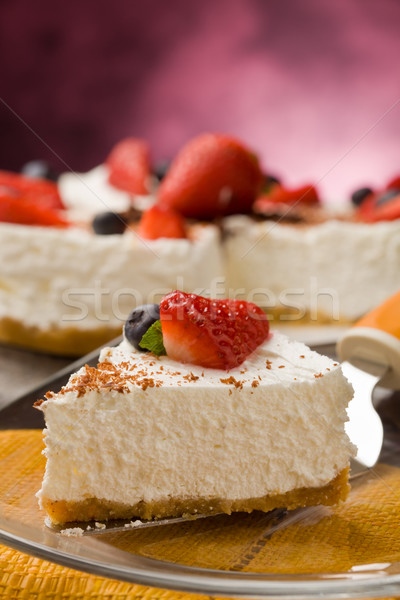 Cake with Strawberries Stock photo © Francesco83