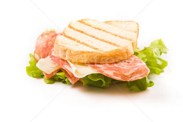 Finom kolbász sajt szendvics fotó étel Stock fotó © Francesco83