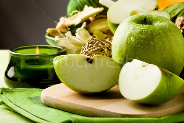 зеленый яблоко десерта разделочная доска фото Сток-фото © Francesco83