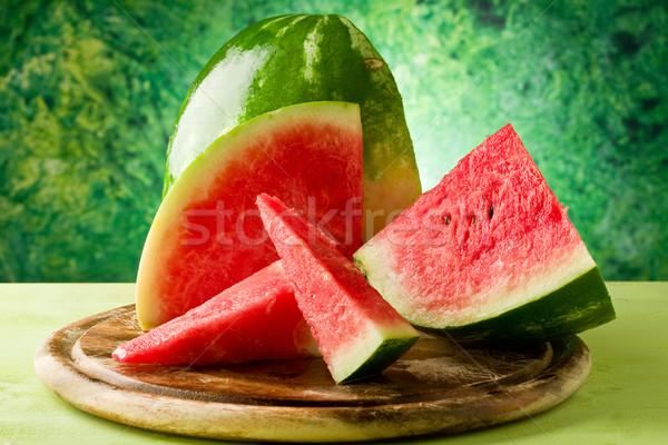 Görögdinnye fotó friss finom vágódeszka zöld Stock fotó © Francesco83