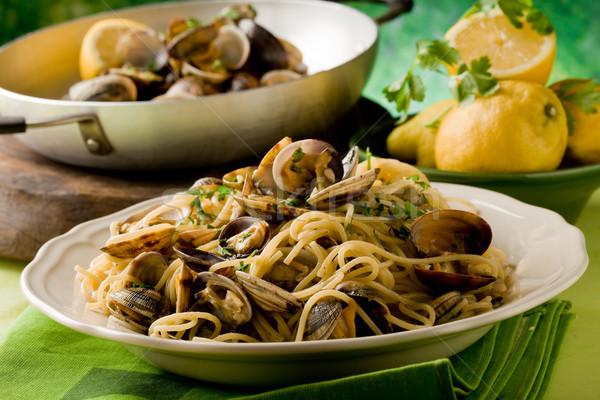 Pasta foto cottura cuoco spaghetti Foto d'archivio © Francesco83