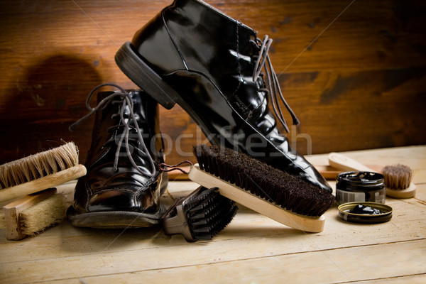 Shoe polishing tools Stock photo © Francesco83