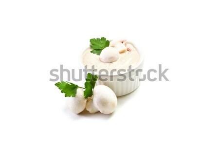 Mushroom sauce on white background Stock photo © Francesco83