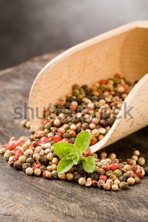 Shovel with mixed pepper beans Stock photo © Francesco83